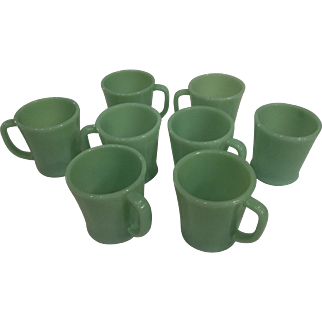 Fire King Jadeite 'D' Handle Mug – Excellent – 8 Available