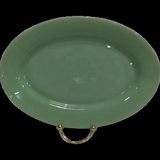 Fire King Jadeite Restaurant Ware Oval Platter
