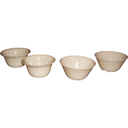Fire King Anchor Hocking Ivory Custard Cups 1940's