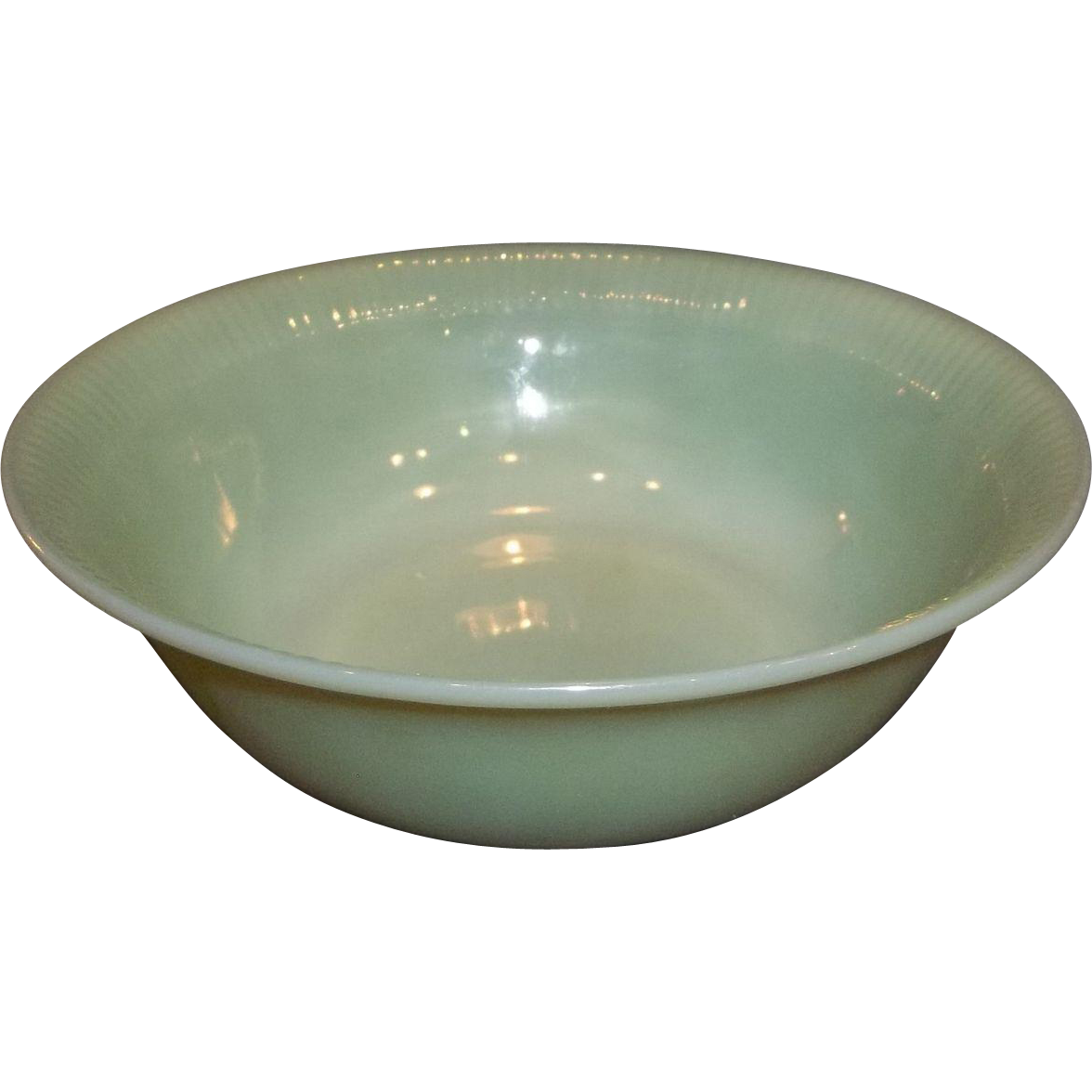 "Fire King Jadeite Jane Ray 8"" Vegetable Bowl"