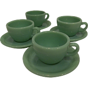 Fire King Jadeite Restaurant Ware Coffee Mug/ Cup & Saucer set- 7 available