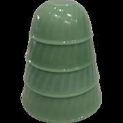 20 % Off Sale  Fire King COMPLETE SET Jadeite Swirl Nesting Bowls