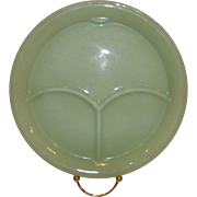Fire King Jadeite Restaurant Ware Divided Grill Plate w/Thumb