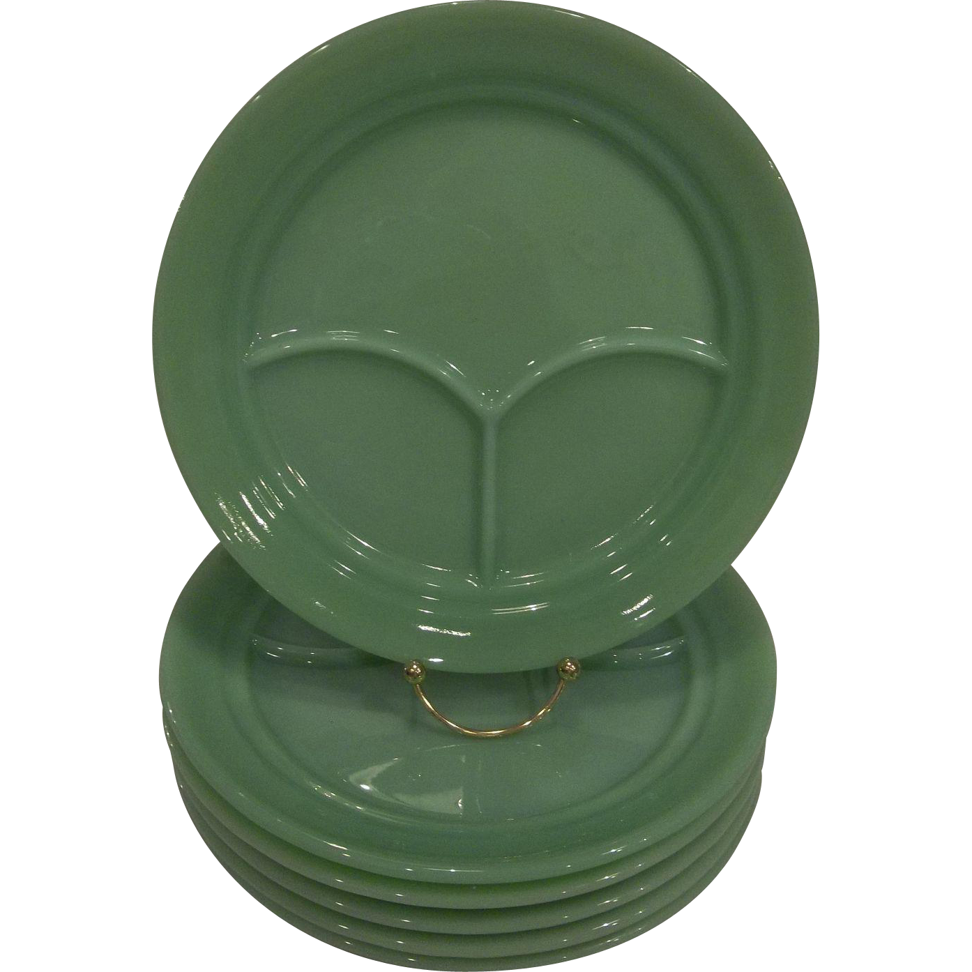 Fire King Jadeite Restaurant Ware Divided Grill Plate