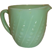 20% Off Sale  Fire King Jadeite Beaded Milk Pitcher 20 oz