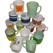 20% OFF SALE!  Fire King Anchor Hocking 14 Mug Assortment