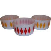 Fire King Diamond Bowls Set of Three