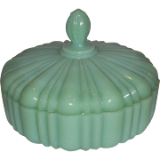 20% OFF SALE!  RARE - Fire King Jadeite Candy Dish