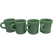 Fire King Jadeite C Handle X THICK/ HEAVY Mug Restaurant Ware