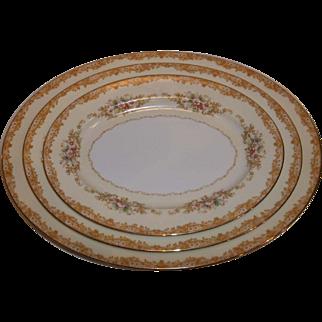 Noritake Cereus 615 Platters – Set of 3