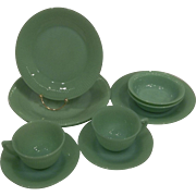 Fire King Jadeite Jane Ray 10 Pieces- Two Five Pc Place Settings