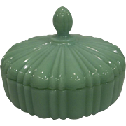 RARE - Fire King Jadeite Candy Dish