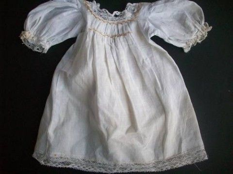 Darling vintage doll dress with hand smocking