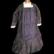 Pretty vintage black doll dress French pattern very elegant - Red Tag Sale Item