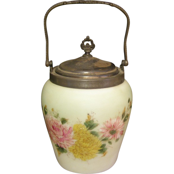 Beautiful Antique cracker / Bisquit jar