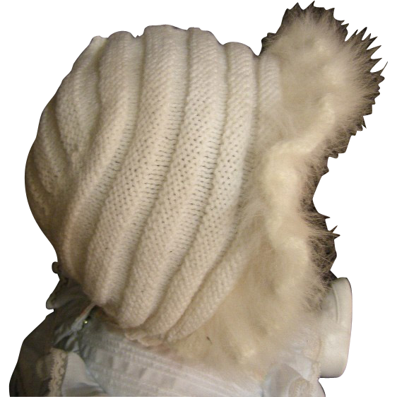Angelic angora Doll hat