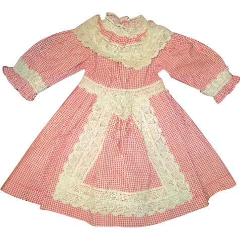 A wonderful vintage doll dress