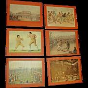 Vintage set of Boxer prints