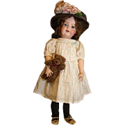 Adorable Kestner bisque toddler doll