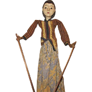 Beautiful wooden puppet