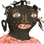Wonderful folk art black doll