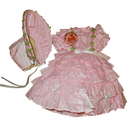 Adorable vintage Shirley Temple dress with button