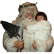 """Stunning Santa and baby 22""""tall"""