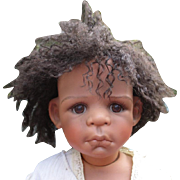 Adorable Black doll by Kaye Wiggs