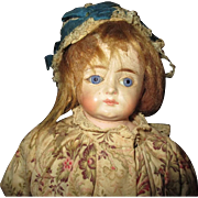 Gorgeous closed mouth  paper mache Antique doll