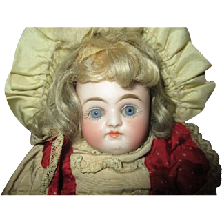 Gorgeous all original closed mouth bisque doll