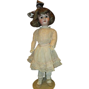 Darling dolly faced bisque doll 26""