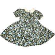 Darling dress with pretty blue flowers