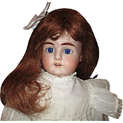 "Beautiful 30"" bisque doll"