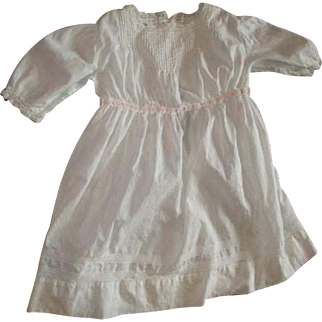 Large dress with pintucking