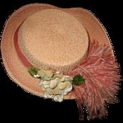 Pretty large pink hat