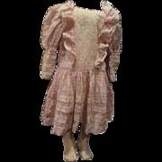 Beautiful large inlaid lace / pintucking/bretelles dress