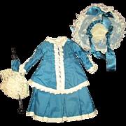 Beautiful doll dress and matching hat