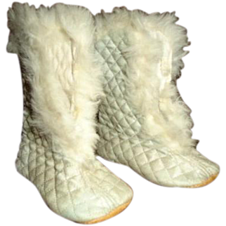 Awesome Shoes trimmed in Rabbit fur