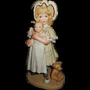 Adorable Jan Hagara girl with a Byelo baby