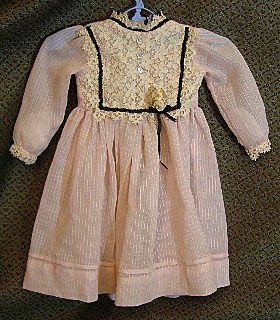 Beautiful vintage doll dress