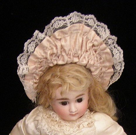 Sweet vintage French doll hat for a small doll