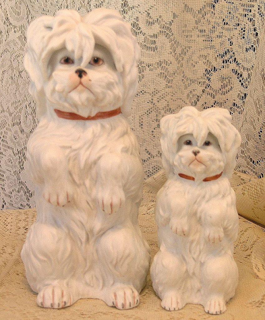 Vintage Gebruder Heubach Porcelain Dog Figurine