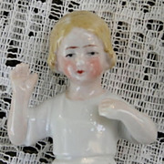 Arms away Child Porcelain Half doll, Germany