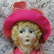"""27"""" French Cloth Boudoir Doll with original costume"""
