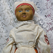 Rare Vintage Russian Papier-mache Doll in Original Costume