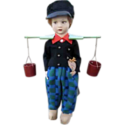 Lenci felt boy doll in Traditional Dutch Costume
