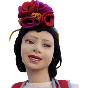 "Rare 28"" Lenci Minho Portuguese Lady Doll"