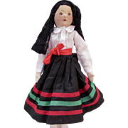 Michigan WPA Cloth Doll Spanish Costume