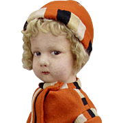 "16"" Lenci 300 Series Boy/Girl in Orange"