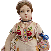 "Rare 16"" Hungarian Doll by Marga 1930s"